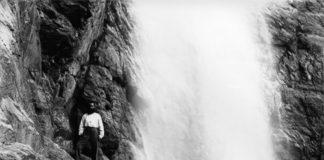 Cascada de Cotatuero fotografiada por Lucien Briet,