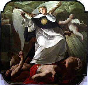 Santo Tomás de Aquino venciendo a los herejes