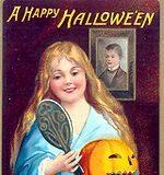 Cartel que anuncia la llegada del Halloween en 1904