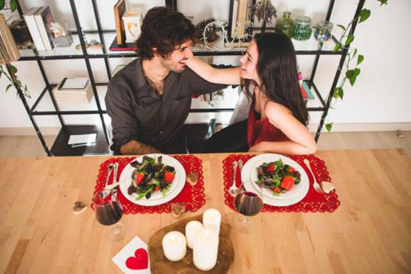Cena rom ntica en casa con toque aragon s men para - Cena romantica san valentin en casa ...