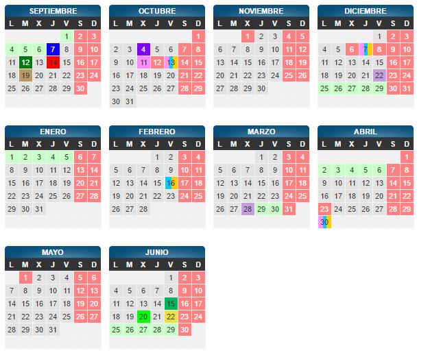Calendario Escolar Zaragoza
