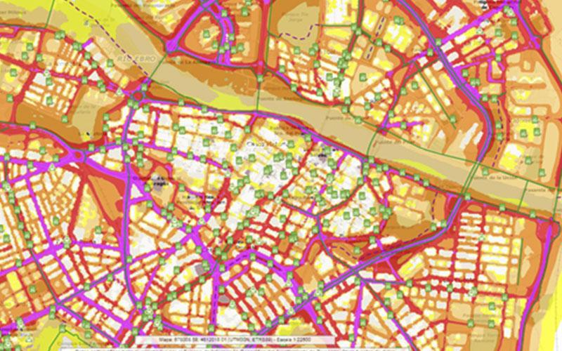 Mapa De Zaragoza Ciudad.Zaragoza Crea Un Mapa Estrategico De Ruido Ambiental Con