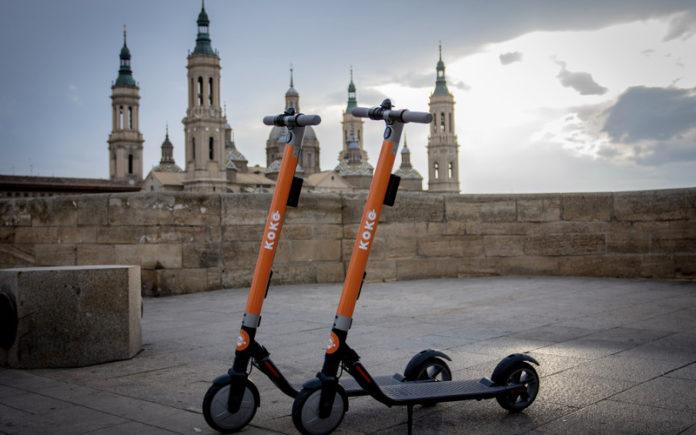 patines eléctricos en la ciudad