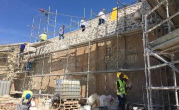 recostruccion muro Calatayud