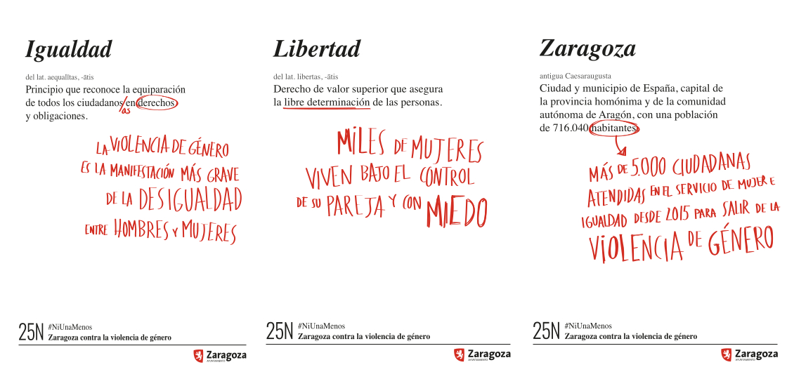 carteles contra la violencia de género