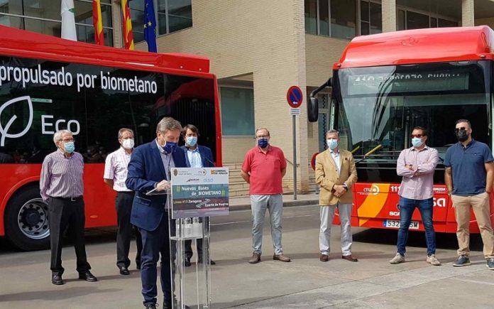 autobuses de biometano Zaragoza Cuarte de Huerva